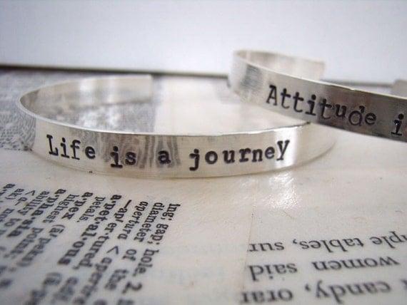 Quotable sterling silver bracelet