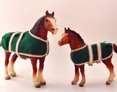 Collectible BREYER Clydesdale Mare and Foal Vintage Classic Horse Set