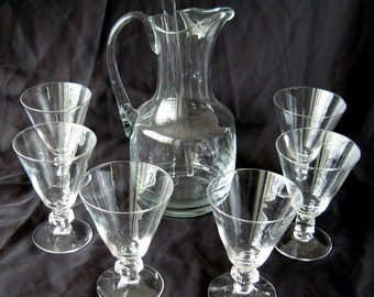 Pitcher and Glass Set