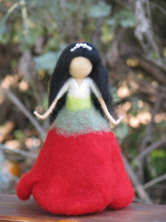 SALE......Needle felted poppies doll waldorf inspired