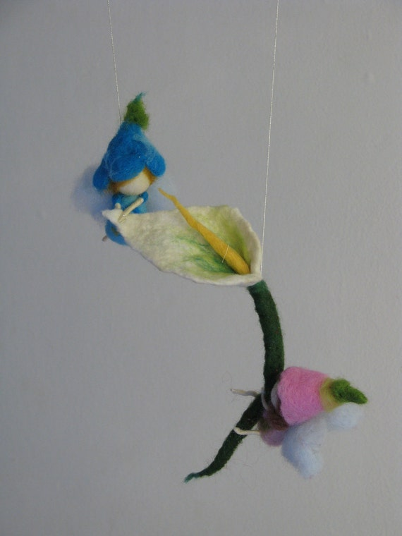 Together we are strong needle felted mobile walorf inspired