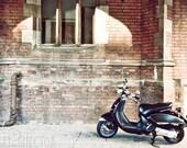Black Vespa 5x7 Inch Photographic Print