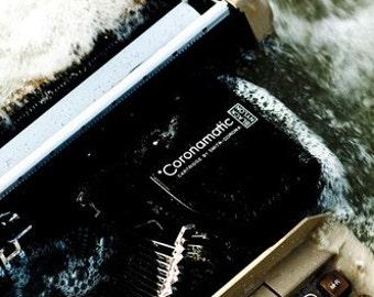 Typing on Jetsam - Submerged Keys 5x7 Inch Photographic Print