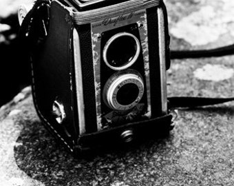 Cameras and Boulders 5x7 Inch Photographic Print