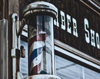 Old Barber Pole 5x7 Inch Photographic Print