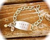Brave Girl Bracelet Silver Chain