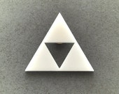 Triforce white brooch fanart triangle geometric