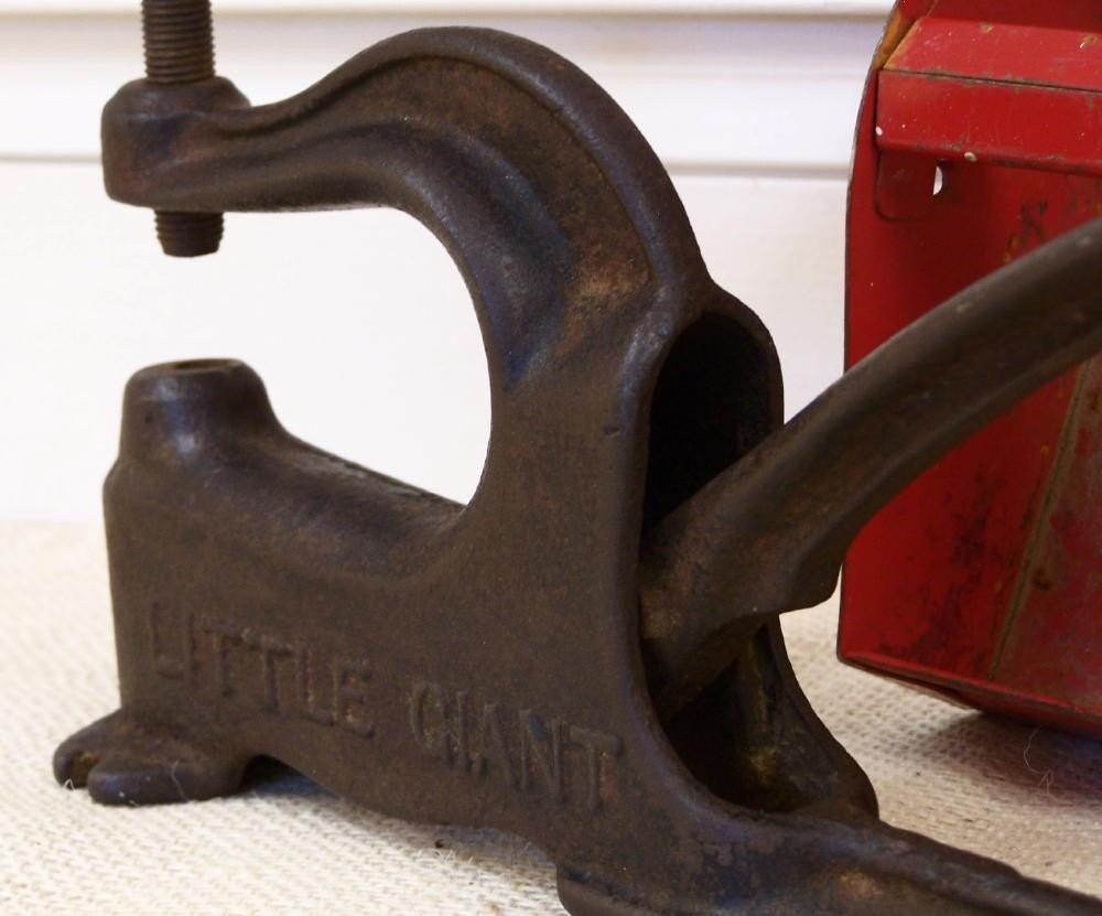 Vintage cast iron little giant rivet press tool