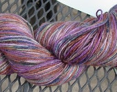 Hand Dyed Baby Alpaca/Silk/Cashmere Sock Yarn --  Reverie