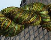 Hand Dyed Silk and Superwash Merino Sock Yarn -- Pumpkin Patch