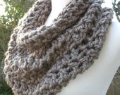 Cowl Chunky Scarf Neckwarmer Capelet Soft Warm Comfy Taupe
