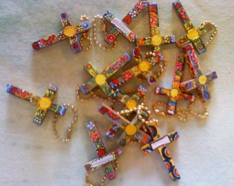 2 inch Hand Painted Crosses