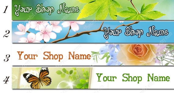Etsy shop banners - Bright - you choose the FONT