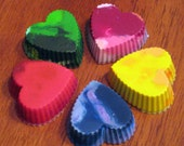RESERVED LISTING for LISA - Set of 25 Individually Wrapped Mini Heart Shaped Upcycled Crayons