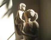 Vintage Mother & Child Sculpture Statue Austin Productions Dura Stone Celebrate Motherhood Art