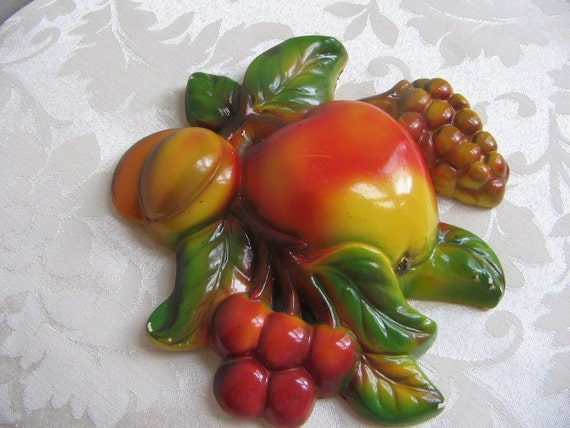 Chalkware Fruit Wall Art FABULOUS