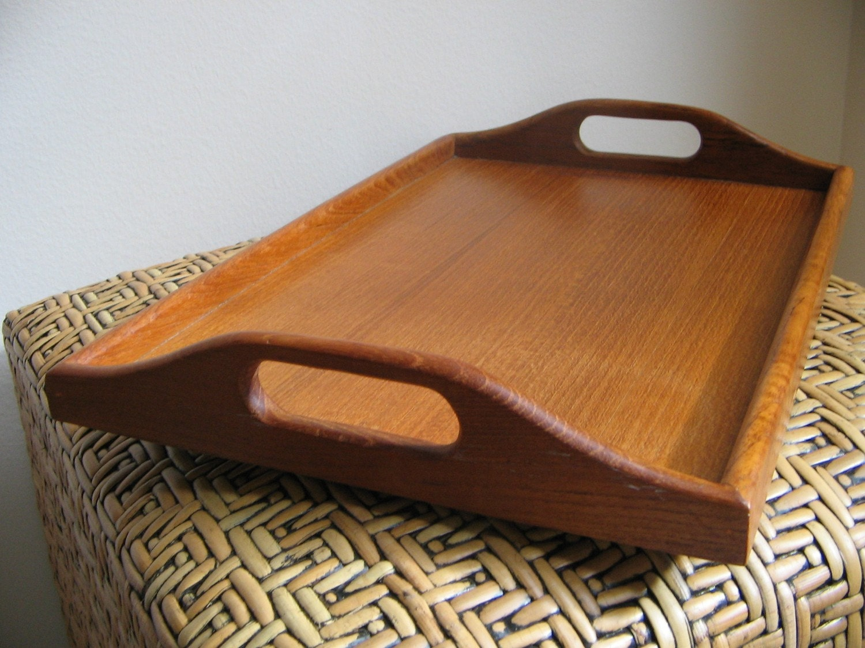Vintage Teak Wood Tray Winsome Wood By Vintagenowandthen