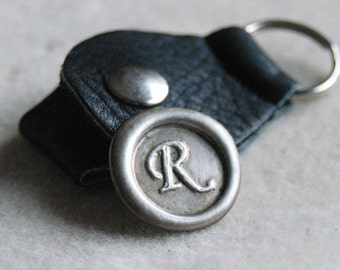 Father's Day Wax Seal Golf Ball Marker With Leather Keyring Holder - Golfing Gift - Graduation Gift - Groom Gift - Wedding Party Gift