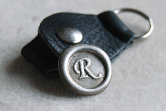 Wax Seal Golf Ball Marker With Leather Keyring Holder - You Choose The Initial - By Inspired Jewelry Designs