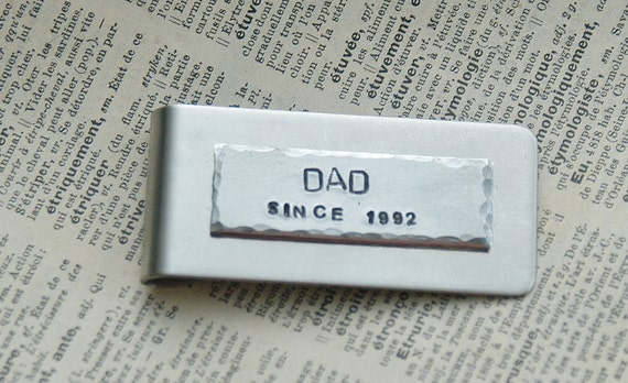 Hand Stamped Dad Money Clip - Stainless Steel Money Clip By Inspired Jewelry Designs