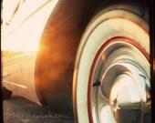 retro home decor vintage car midcentury americana cream gold black -  Whitewall -  Fine Art Photography Print