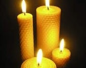 "Pure Beeswax 1 large candle pillar - 8"" x 3"" with lead free wicks"