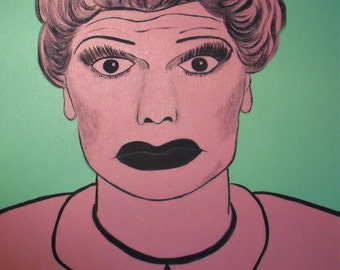 Lucy in Pink, Lucille Ball Pop Art Painting