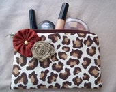 Clutch or Make Up Bag - The Doris Style in a contemporary  Animal Print