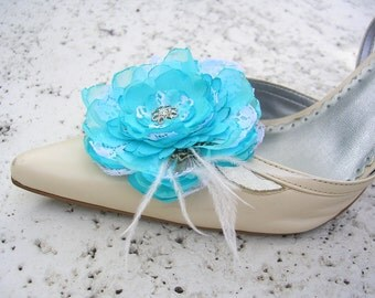 Shoe Clips - Something Borrowed Something Blue Elegant Shoe Clips