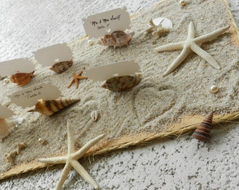 Seashell Place Card, Shell Escort Card Holders to Compliment your Beach or Seaside Wedding - Set of 10