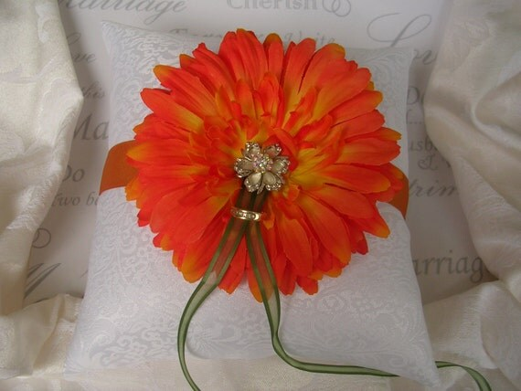 Ring Bearer Pillow..Orange blossom