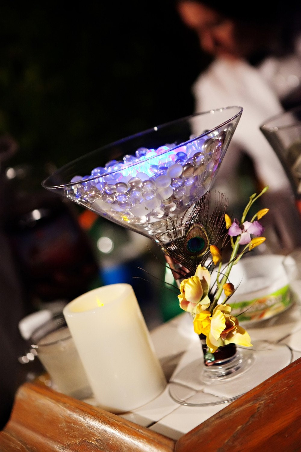 Table centerpiece decoration exquisite martini glass