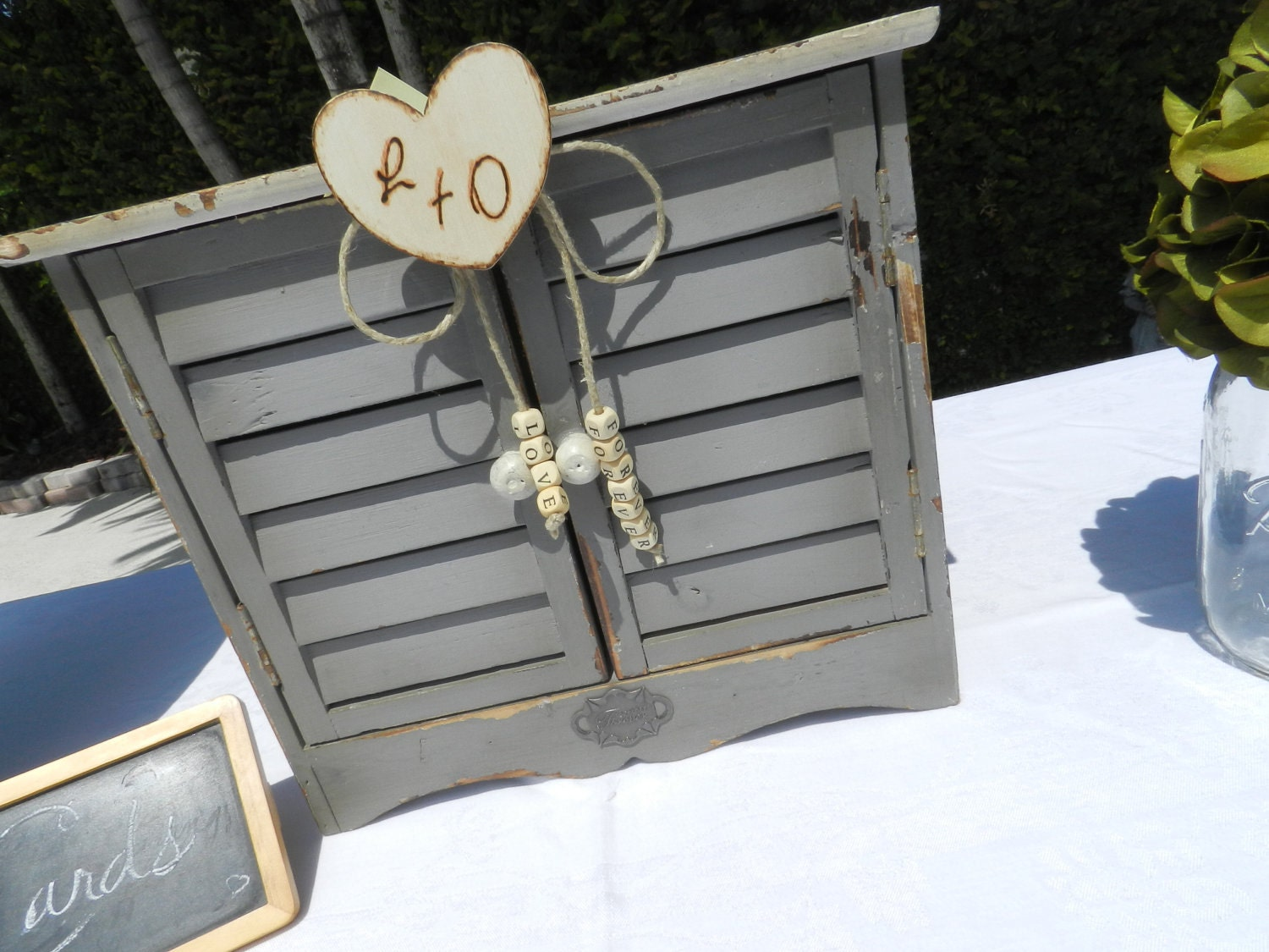 Rustic Shabby Chic Wedding Card Box