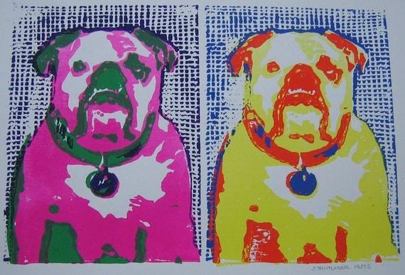 English Bulldog Print Rescue Dog Tank Double