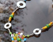 Bright beaded Necklace - Smiles for miles