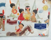 Vintage Childrens Native American Ambassador Wrapping Paper 2 Sheets