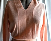 Pale pink 1950s cashmere sweater.  small.