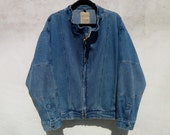 Vintage 1990's Jean Jacket with Blocked Sections of Ribbed Denim Sections by Common Man's Apparel