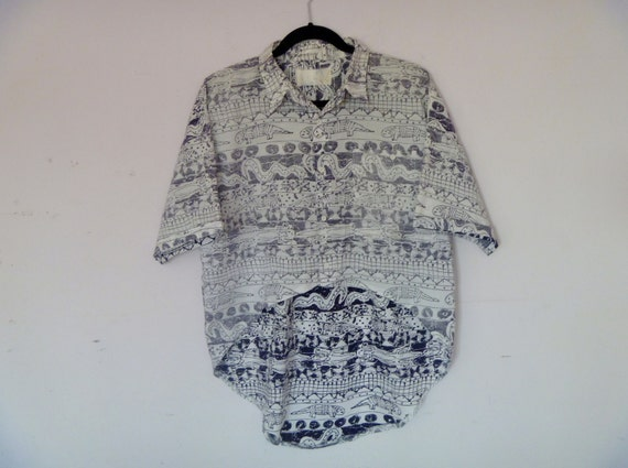 Original by Repose High Low Oversized Waterfall Blouse Fashioned out of Vintage 80's Men's Button Down Shirt by Blueprint