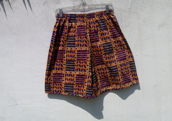 Deadstock Vintage 90's Navajo Tribal Print  Shorts Geometric Pattern Op Art Men's Medium