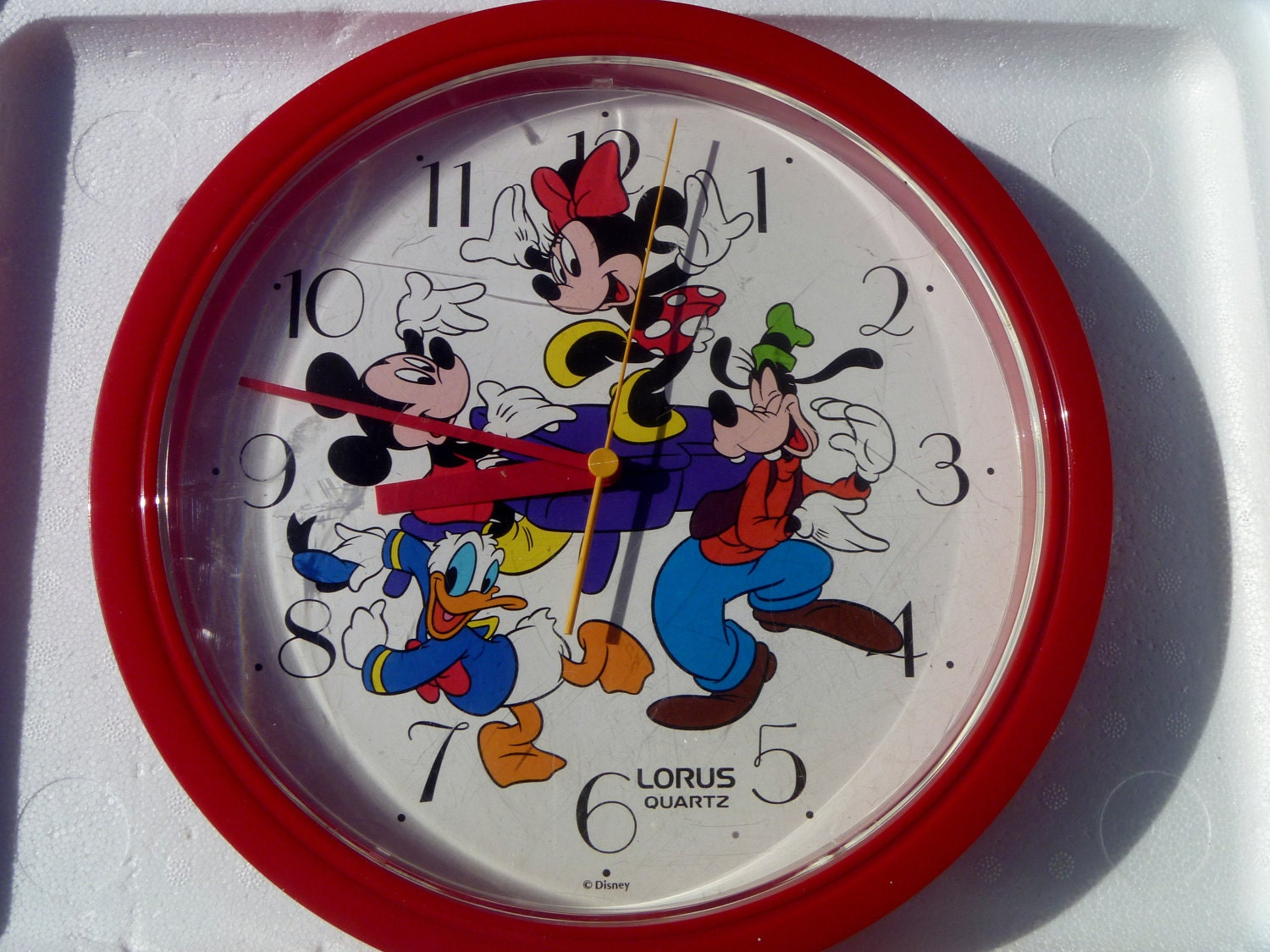 Vintage 90 S Disney Wall Clock With Mickey And Minnie
