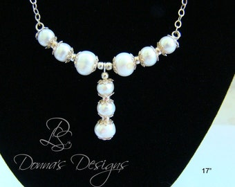 17in Pearl Drop Necklace