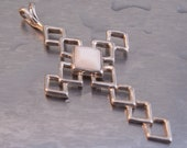 SALE 20% OFF Vintage Cross Pendant Sterling Silver Mother Of Pearl Necklace
