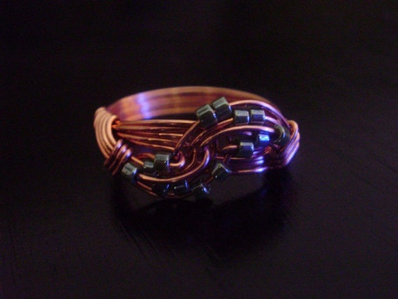 Copper Wave Wire Wrapped Ring Tutorial