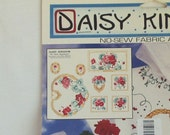 Vintage Fabric Applique Daisy Kingdom Red Geranium Floral Heart No Sew