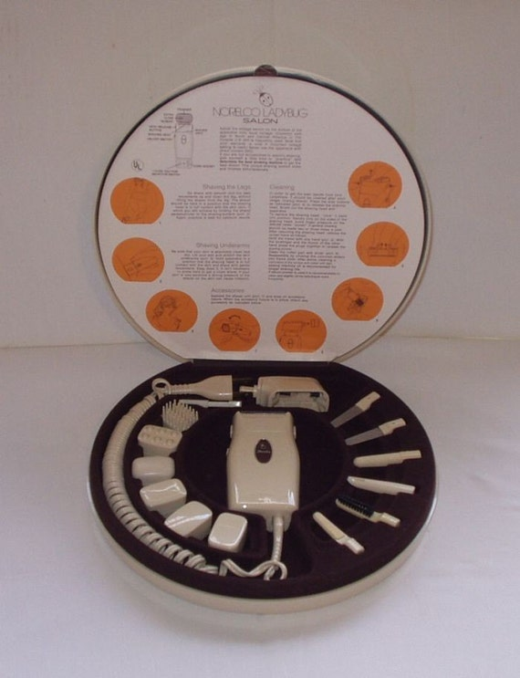 Vintage Norelco Ladybug Salon Razor Nail Massage Set 70s