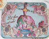 BEAUTIFUL MARIE ANTOINETTE MoUSE PaD altered collage for your HoME or OFFIcE paris LeT THeM EaT CaKE