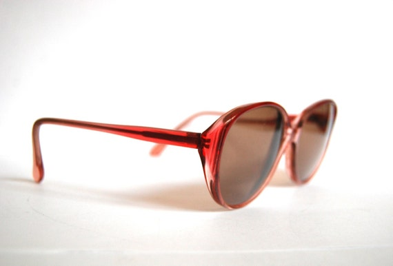 Vintage deep red funky sunglasses Germany