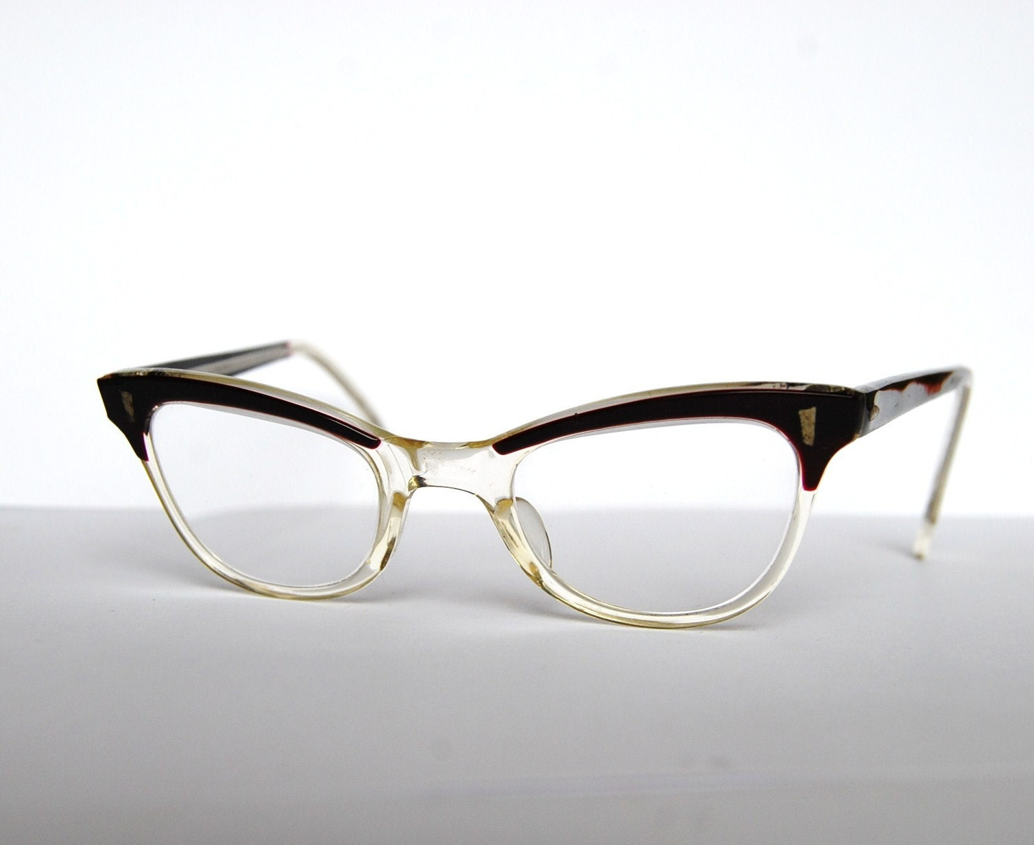 Cat Eyeglass Frames : Vintage kids children cat eye eyeglasses made in Germany