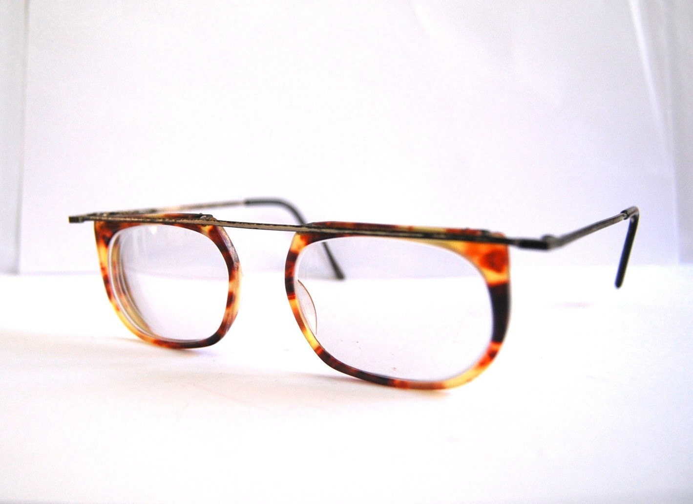 vintage leopard eyeglasses made in italy